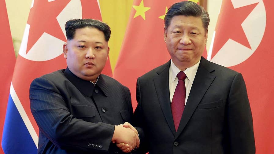 Peter Brookes, senior fellow at the Heritage Foundation, on the geopolitical significance of Kim Jong Un's visit to Beijing and its impact on a potential meeting with President Trump.