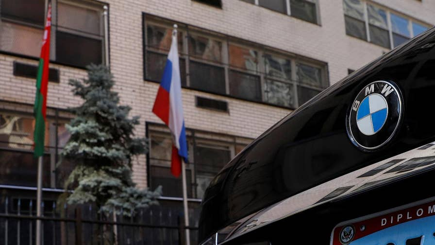 Moscow's foreign minister announces the Kremlin is shutting down the U.S. consulate in St. Petersburg and kicking out 150 diplomats, including 60 Americans; Rich Edson reports from the State Department.