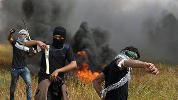 Palestinian and Israeli relations intensify as Palestinians protest along Israeli security border to protest the Israeli blockade around Gaza. Conor Powell has the story.