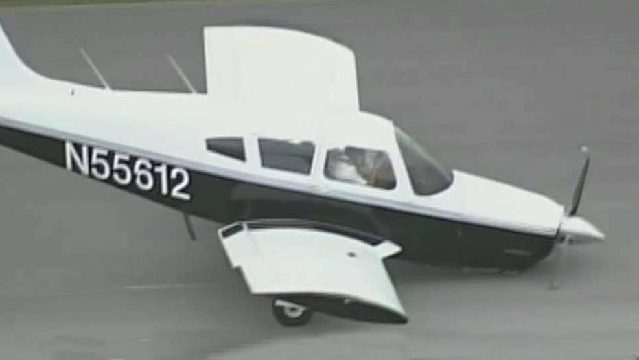 Pilot kisses tarmac after emergency landing