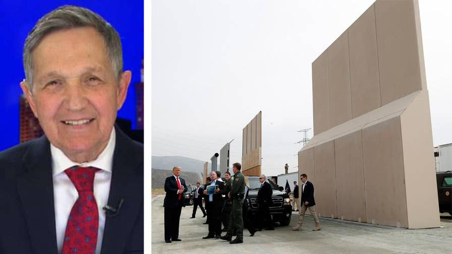 Candidate for Ohio governor Dennis Kucinich says on 'Hannity' that he would prefer border wall funds be used on infrastructure like bridges and roads.