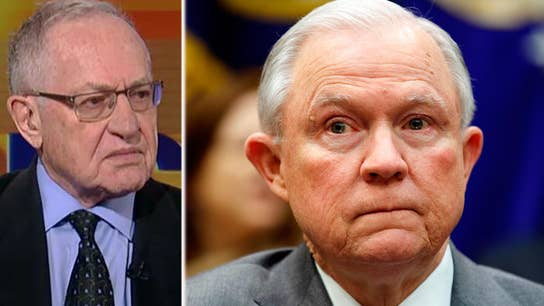 Alan Dershowitz: Sessions handling DOJ probe the right way