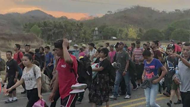Border Patrol reaction to caravan of immigrants headed to US