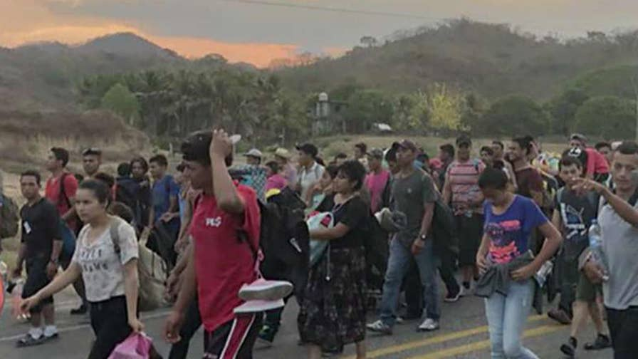 Border Patrol union leader Brandon Judd provides insight as large group of immigrants make their way to the southern U.S. border.