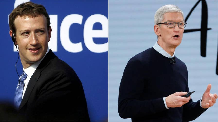 Facebook CEO Mark Zuckerberg calls Apple CEO Tim Cook's critique of the social media giant 'glib.' Take a look at the back and forth between to the tech titans.