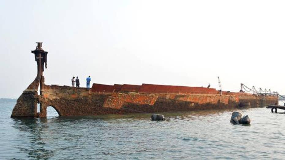 WWII shipwreck, SS Sagaing, resurfaced