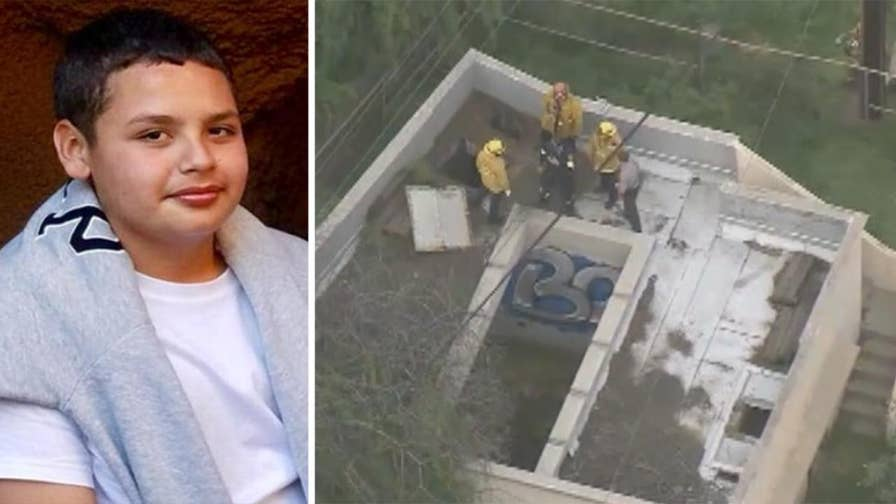 13-year-old boy who fell in drainage ditch found alive after frantic search involving over 100 firefighters.