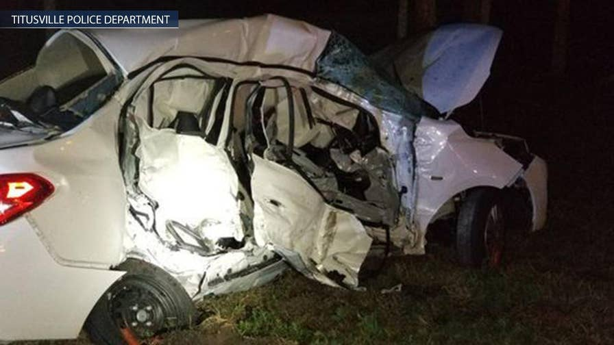 Family visiting from England killed when their sedan crashed with pickup truck in Titusville, Florida.