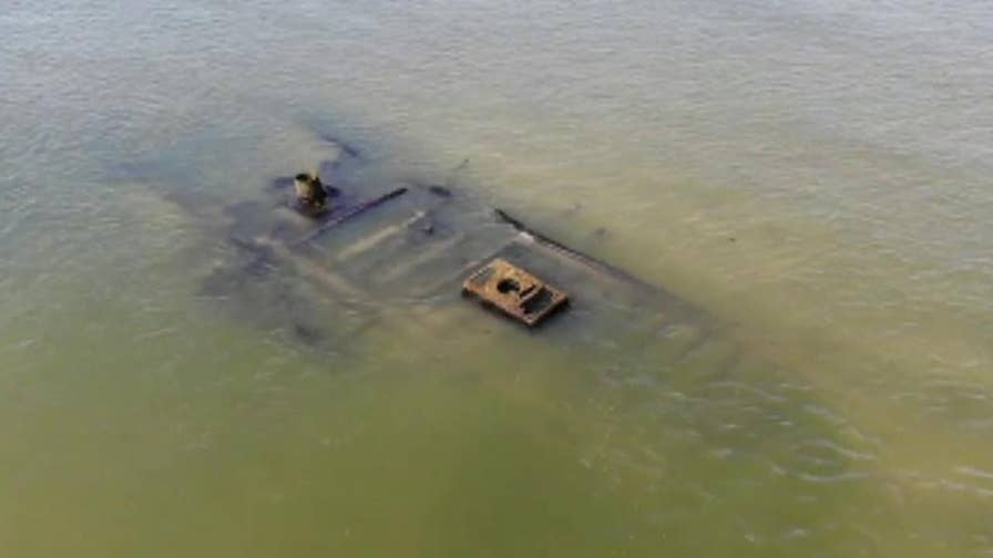 Brent Garlington was able to capture this footage of the wrecked ship using a drone.