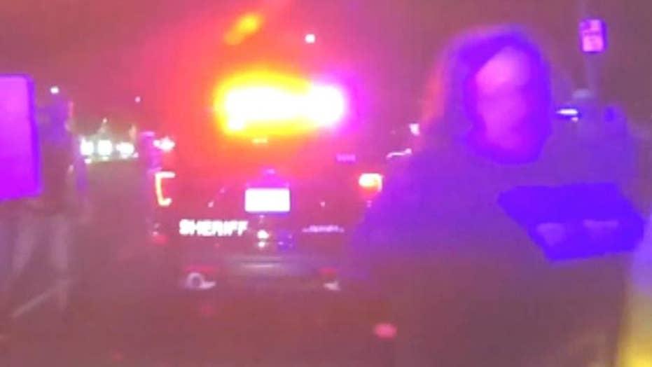 Sacramento police car collides with Stephon Clark protester