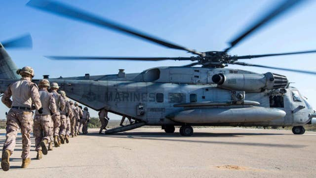4 Marines possibly killed in helicopter crash