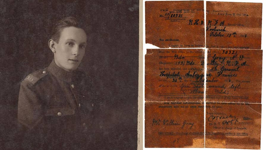 Norman Gray, a fresh-faced 19-year-old was shipped off to France in 1915 to fight in World War I. Now his diary resurfaced, documenting the horrors of war.