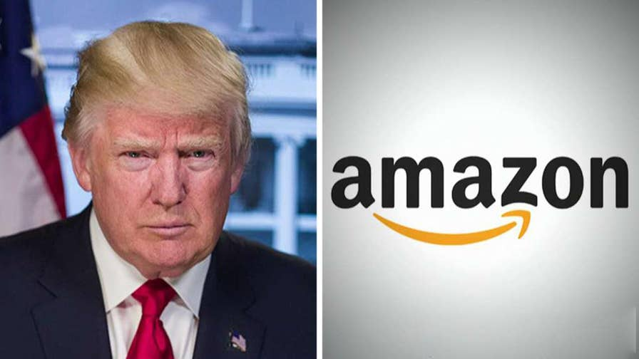 President Trump has tweeted his displeasure at the online retail giant, citing its alleged abuse of the tax system, the Postal Service and other retailers; Doug McKelway reports from Washington.