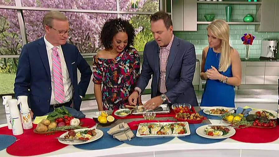 Adam Housley and Tamera Mowry cook one of their favorite dishes.