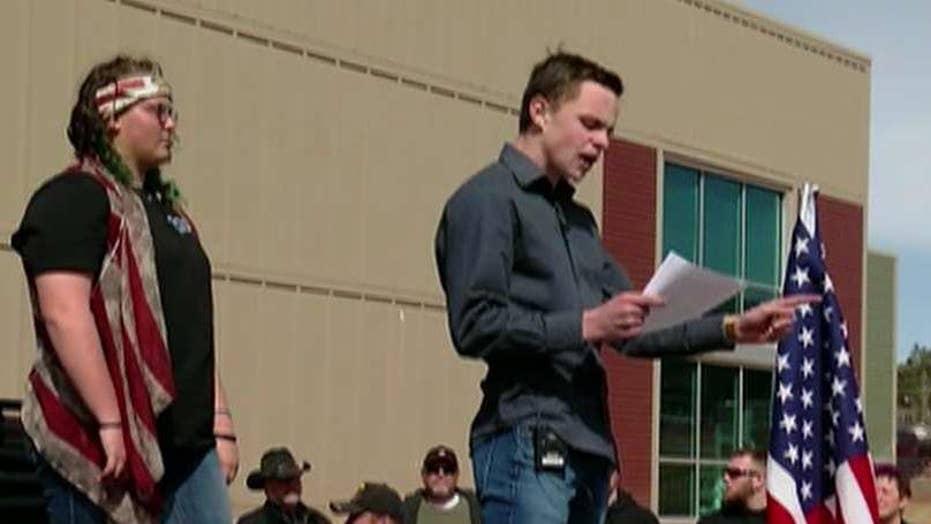 Colorado students hold pro-gun rally