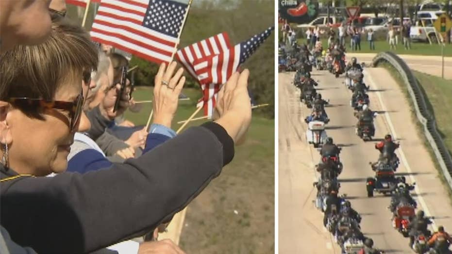 Hundreds welcome Medal of Honor motorcade in Texas