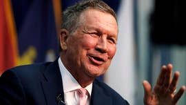 Kasich, in New Hampshire, says all 'options are on the table' when it comes to challenging Trump