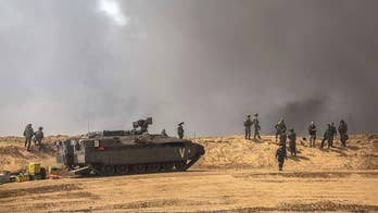 Palestinians stage 2nd mass demonstration in one week, burning tires for hours in protest of Israel's occupation of Gaza; Conor Powell has the latest live from the border.