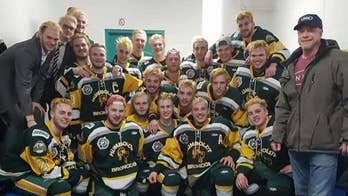Canadian junior hockey team from Humboldt was traveling to a game when their bus collided with a truck; Bryan Llenas shares an update.