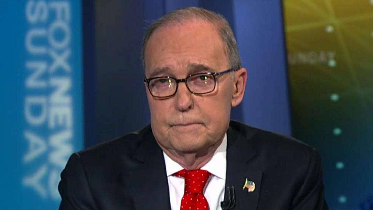 Kudlow tries to calm trade war fears but says Trump 'not bluffing' about China tariffs
