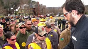 Gun rights supporters gathered to protest gun reform bills expected to be signed by the Vermont governor; Bryan Llenas reports.