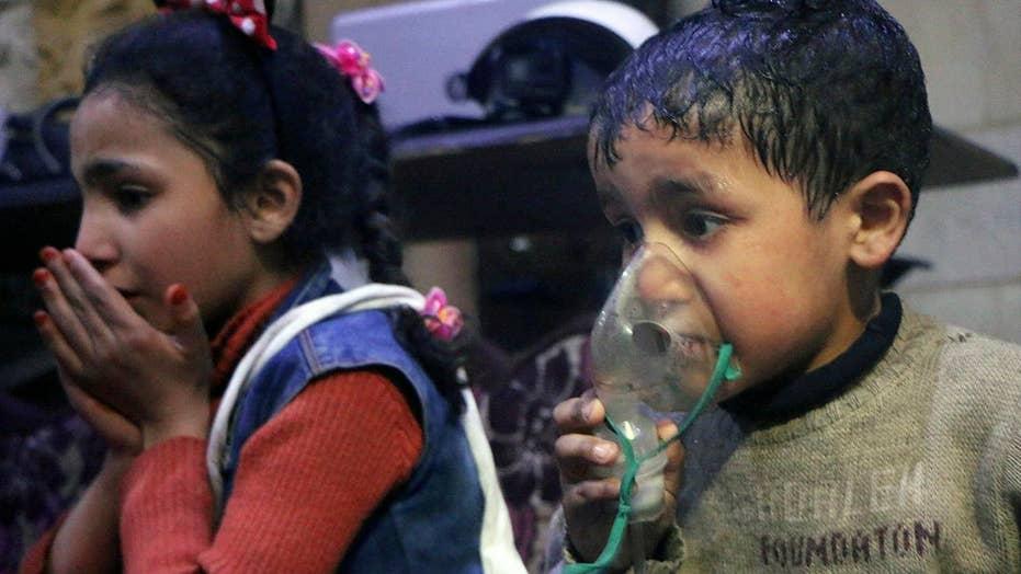 Dozens dead in chemical attack in Syria
