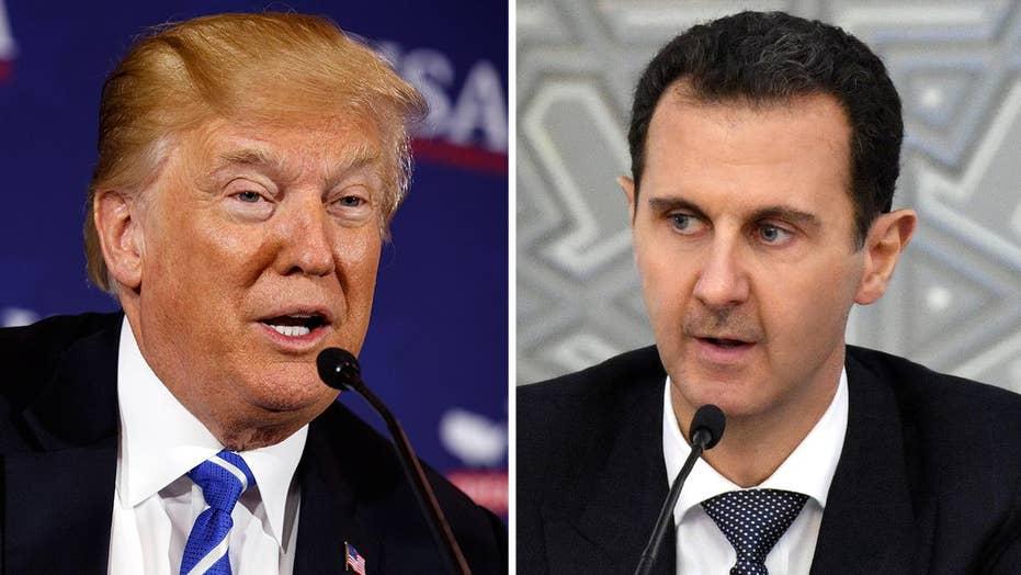 Trump threatens 'animal Assad' over Syria chemical attack