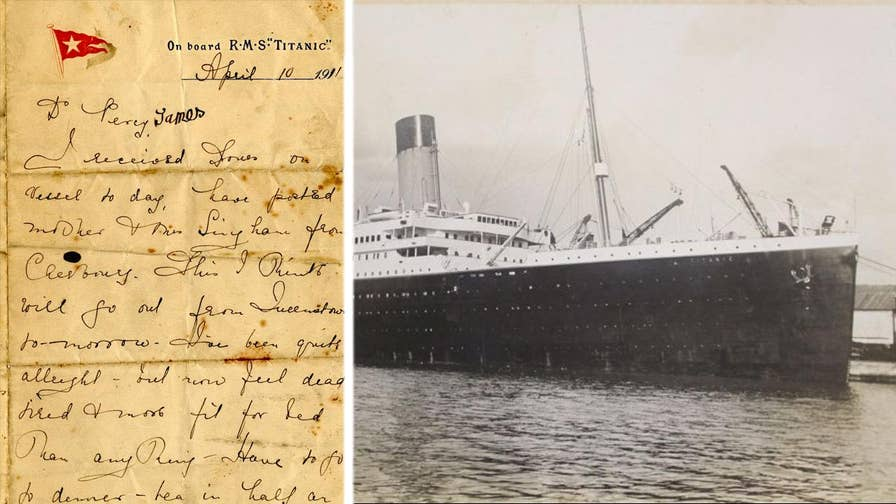A letter written aboard the ill-fated Titanic by a second class passenger details what life was like on the luxurious ocean liner.