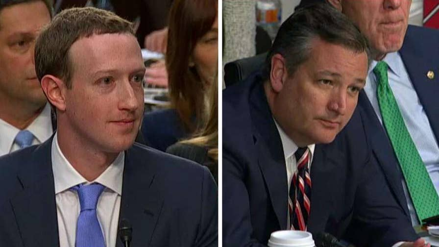 Facebook's Mark Zuckerberg responds to questions from Texas Senator Ted Cruz about whether Facebook is a neutral public forum or a biased tool for political advocacy and whether or not the CEO requires new employees to share political views.