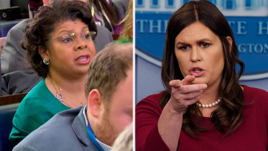 White House press secretary Sarah Sanders calls the question from the American Urban Radio Networks correspondent is 'absolutely ridiculous.'