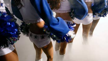 Professional cheerleaders say they are expected to entertain fans who say inappropriate things to them and touch them without permission.