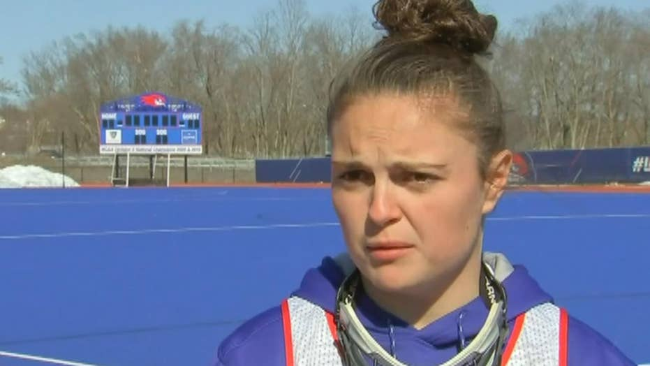 UMass Lowell lacrosse player scores goal after losing leg