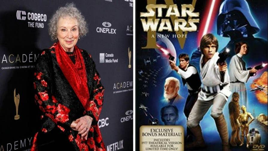 "During an event, Margaret Atwood, the author of the book-turned-TV hit ""The Handmaid's Tale"" says that the 9/11 terrorists were inspired by ""Star Wars."" Atwood referenced ""Star Wars: Episode IV - A New Hope"" when Luke Skywalker blew up the Death Star."