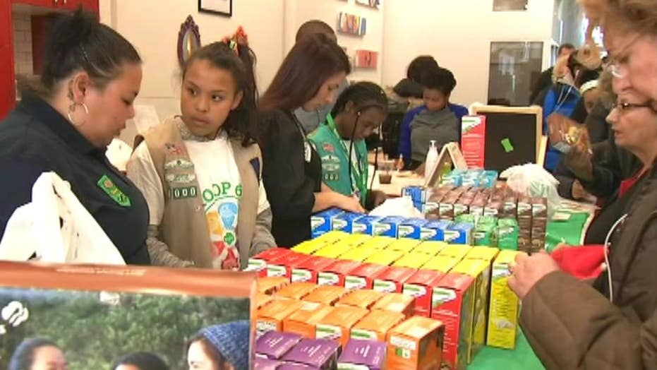 Homeless Girl Scout troop hopes to sell 6,000 cookie boxes