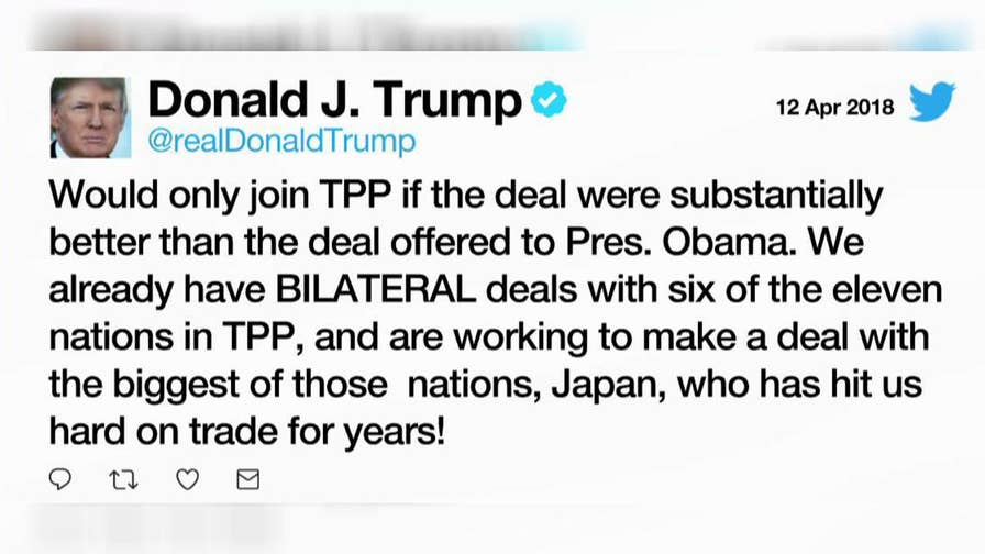 President Trump directs his top economic advisers to negotiate re-entering the Trans-Pacific Partnership; reaction from Rep. Kevin Brady, chairman of the House Ways and Means Committee.