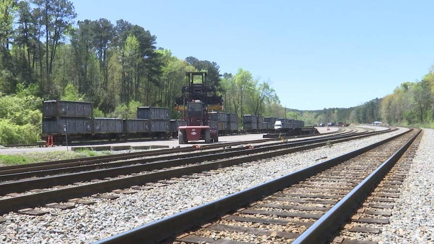 "Flushed from out-of-state, the nicknamed ""poop train"" has been sitting in a rail yard in Alabama for months."