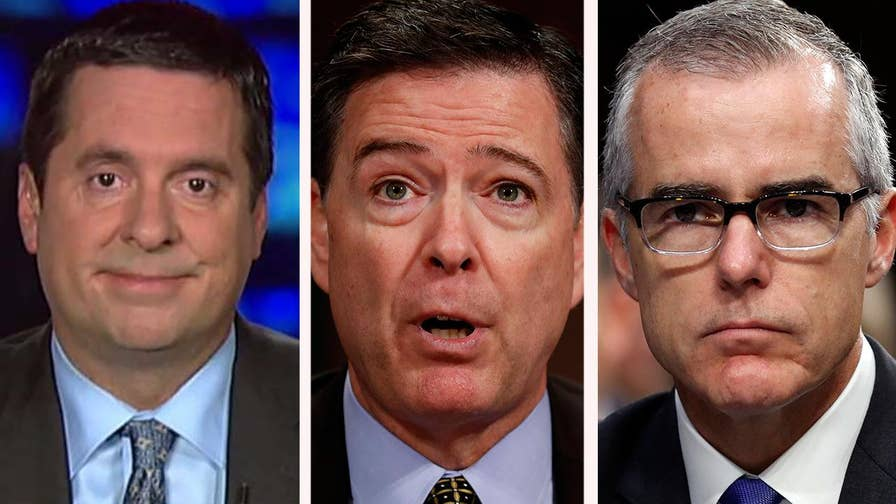 DOJ report says former deputy FBI director Andrew McCabe leaked to the media; Rep. Devin Nunes reacts to the inspector general report and James Comey's book on 'The Story.'
