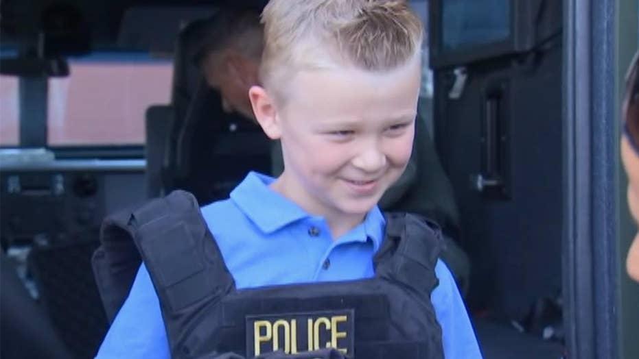 Boy's lemonade stand raises money for fallen police officers