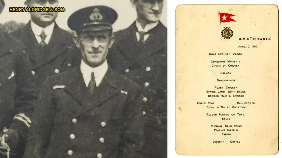 Menu from first meal served on Titanic for auction