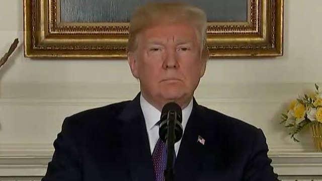 President Trump announces US strikes on Syria