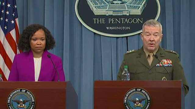 Pentagon officials share details of Syria airstrikes