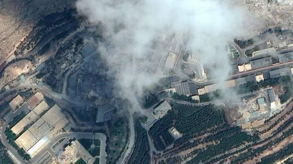 Enhanced images show impact of US-led strikes on Syria