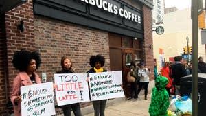 Protestors demand firing of Starbucks manager after viral video of arrests