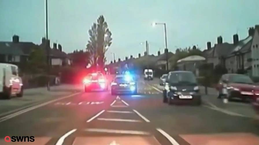 A reckless driver in South Yorkshire, UK evaded police in an epic car chase, only to get himself arrested from a really dumb move.