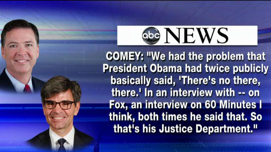 Fox News senior political analyst on portions left out of the aired portion of the fired FBI director's sit-down with George Stephanopoulos.