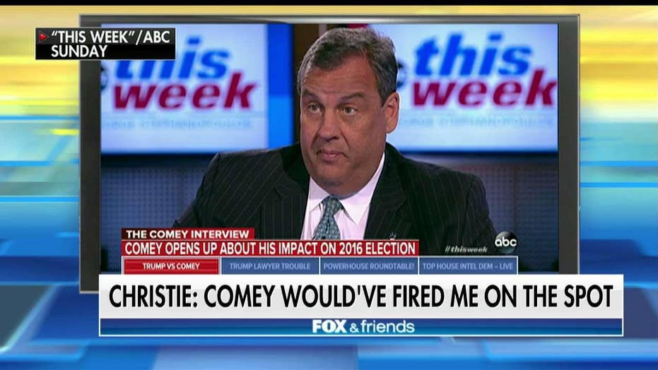 Christie: Comey 'Would Have Fired Me on the Spot' If I Did What He Did