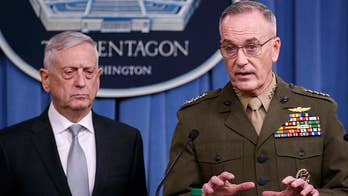 The secretary of defense and chairman of the Joint Chiefs of Staff briefed the entire House and Senate in closed-door classified meetings on the U.S.-led Syria strike; national security correspondent Jennifer Griffin reports from the Pentagon.