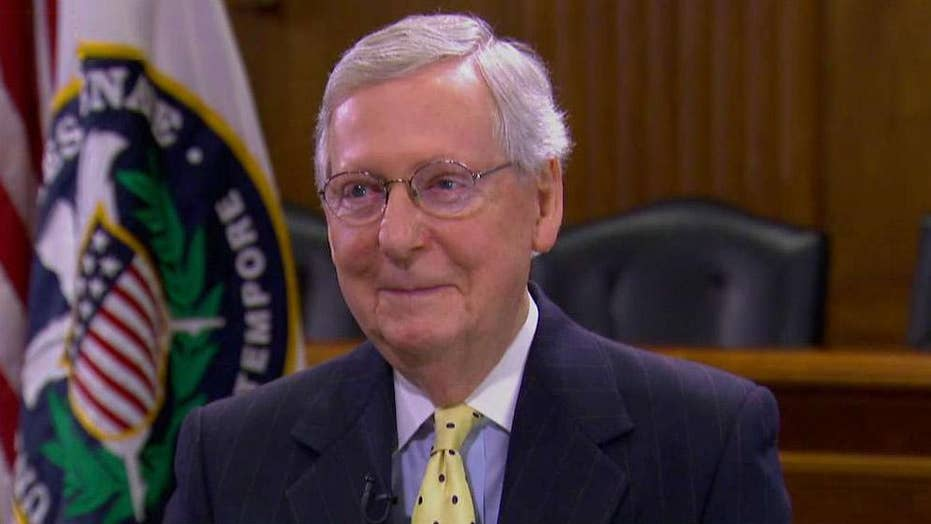 McConnell talks tax cuts, Muller probe and budget clawbacks