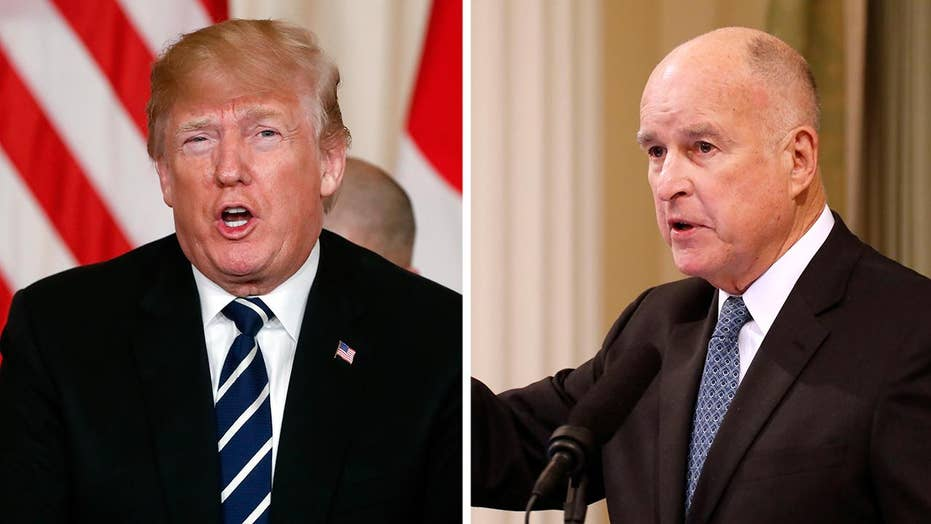 Gov. Brown battles President Trump over National Guard role