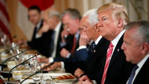 President Trump discusses the likelihood Mike Pompeo will be confirmed as secretary of state during a meeting with the Japanese prime minister.